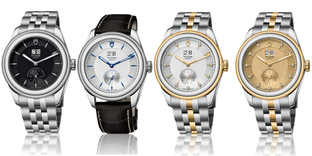 Tudor Glamour Double Date watches