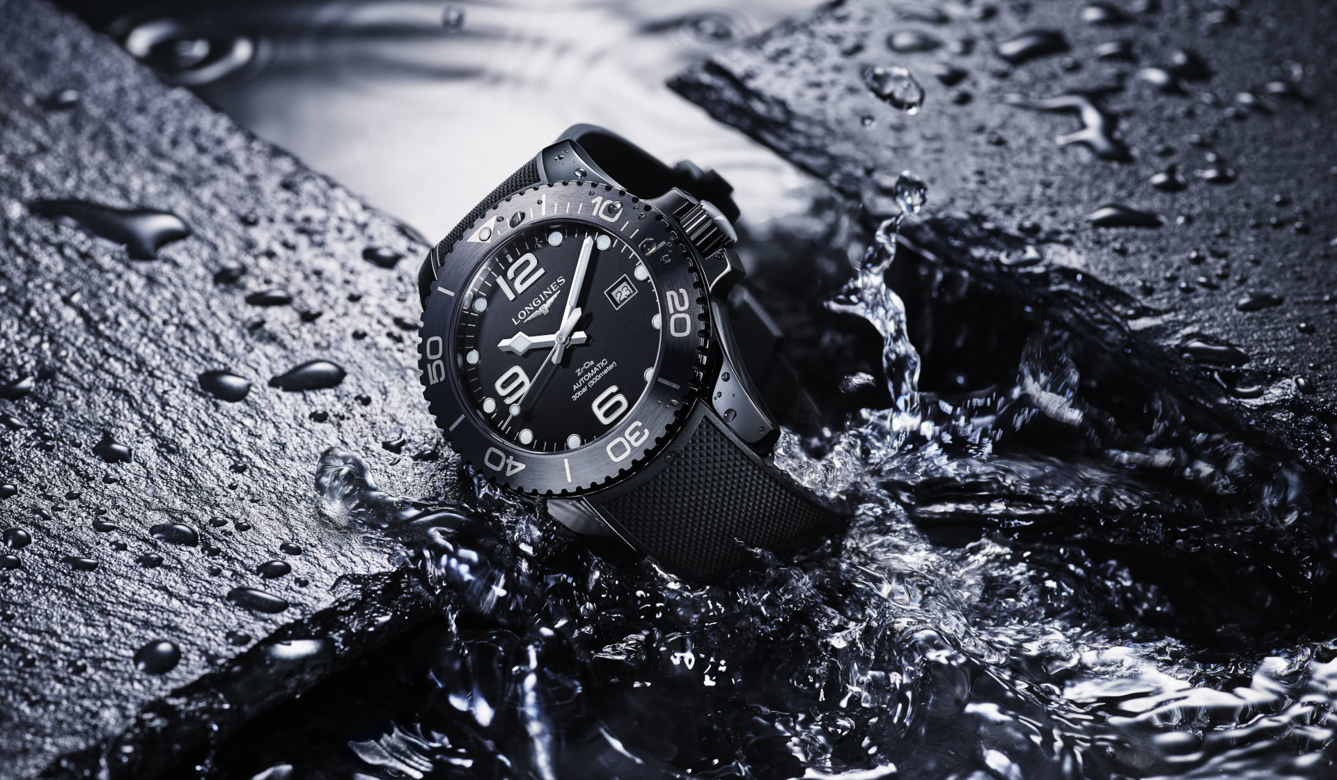 The Longines Hydroconquest All Black Ceramic is everything you love about the collection, just in a better case