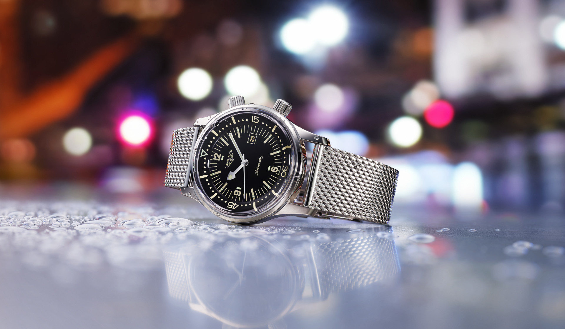 The Longines Legend Diver finally comes in a 36mm case fitting of the era it was inspired from