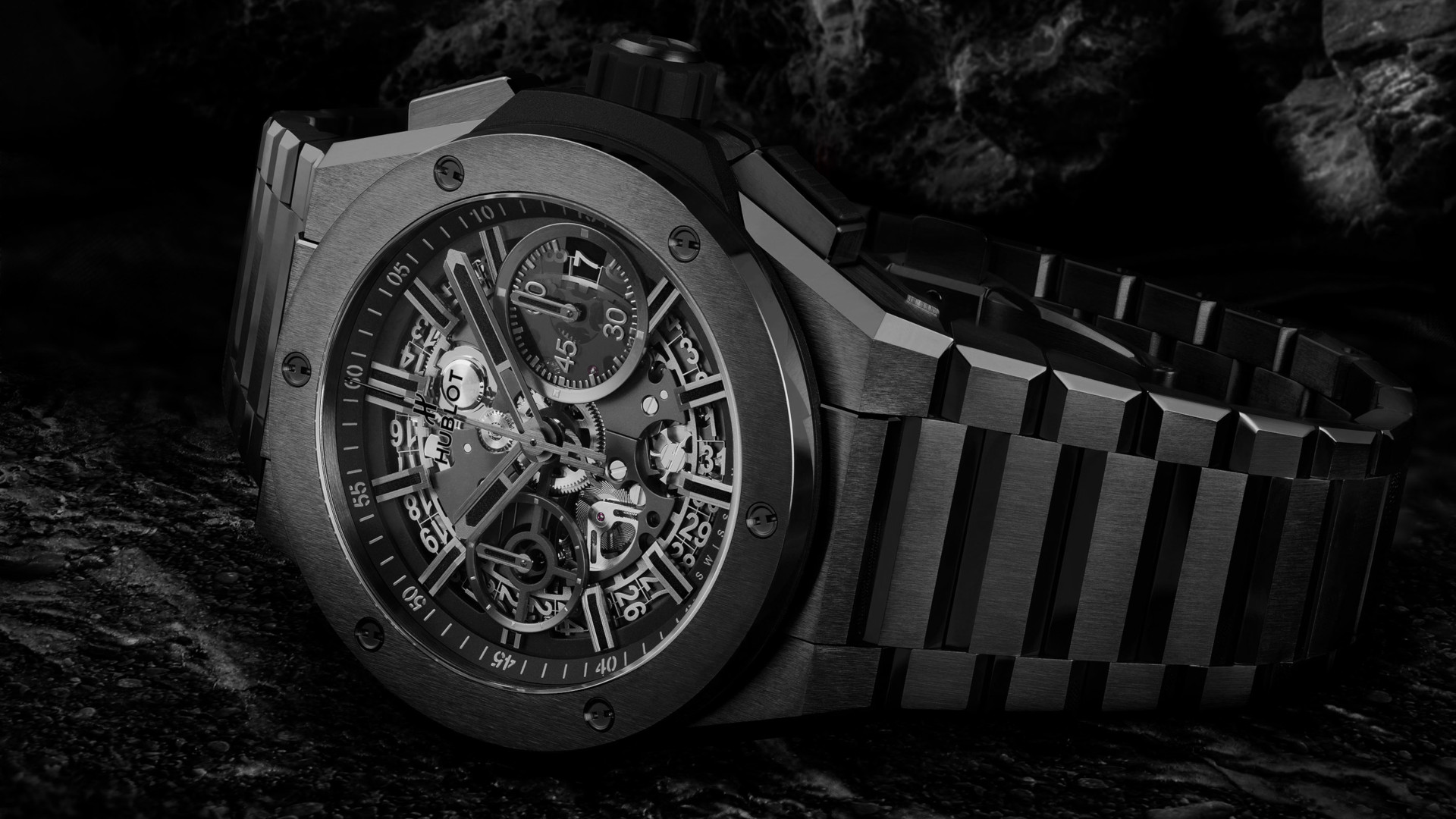 Hublot's take on the sports watch with an integrated bracelet comes in the form of the Big Bang Integral`
