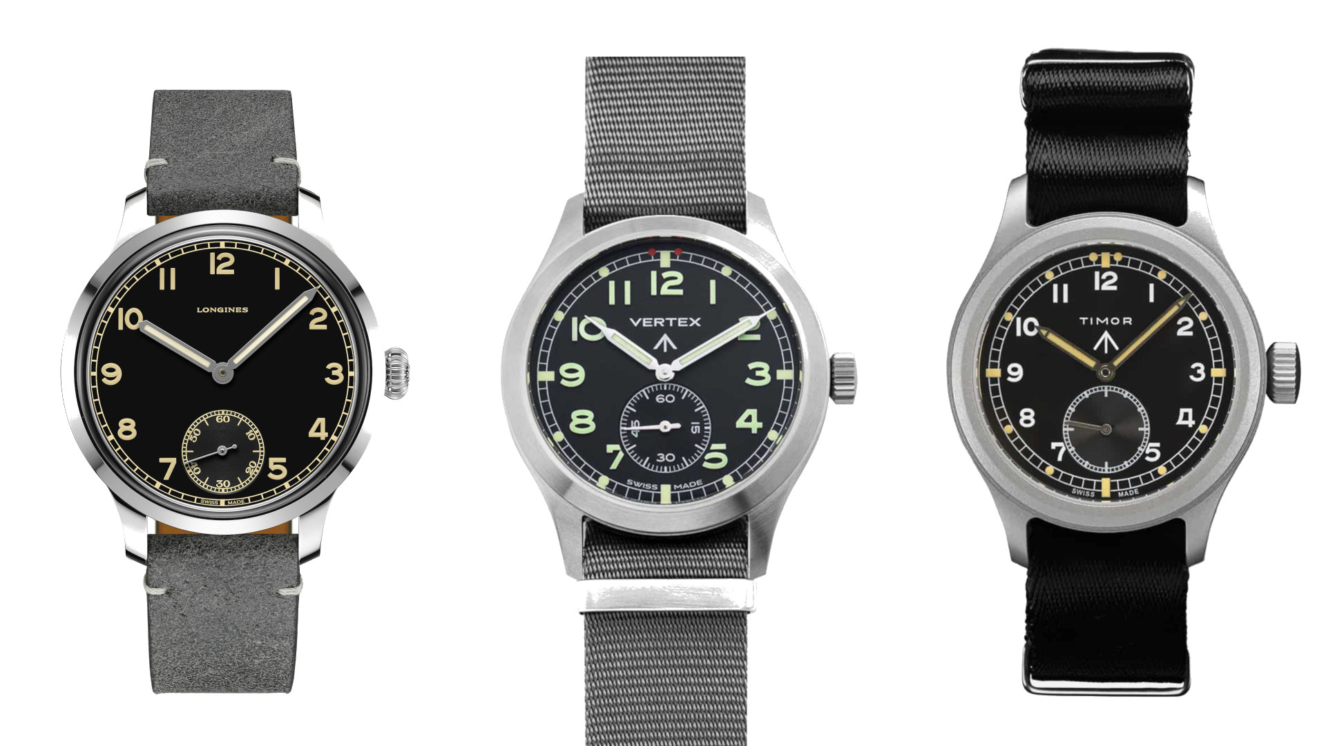 Three vintage-inspired military watches come with immense historical significance
