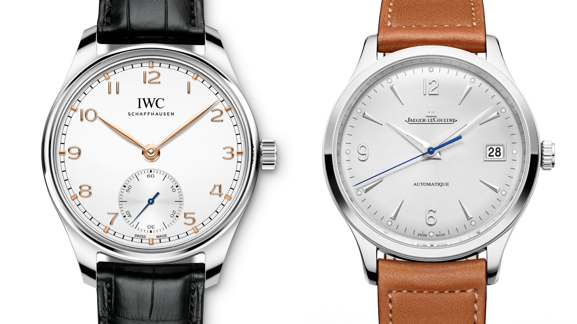 Simple and pure – Will you go with the IWC Portugieser or the JLC Master Control?
