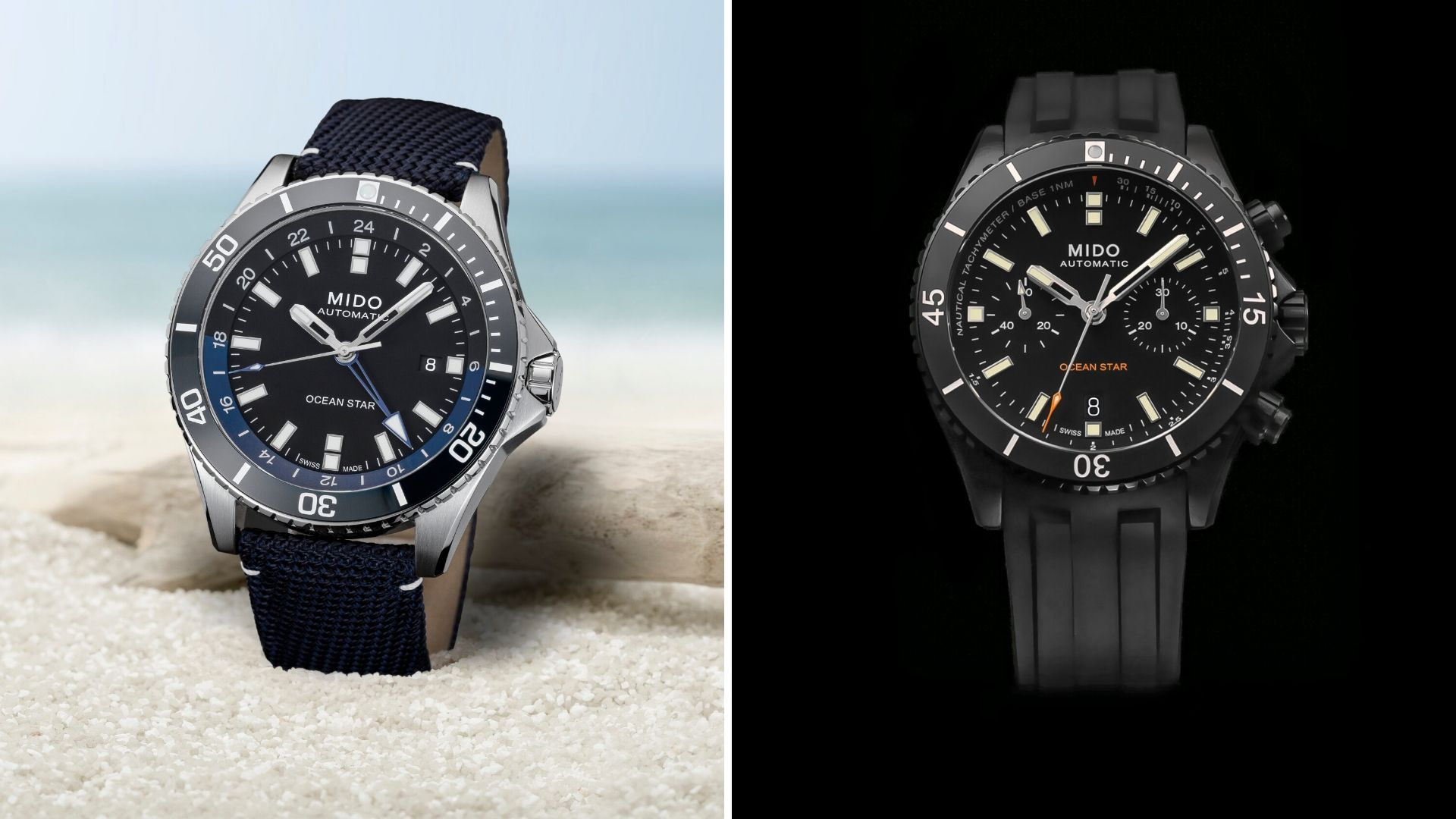 The Mido Ocean Star collection now has a GMT and Chronograph option