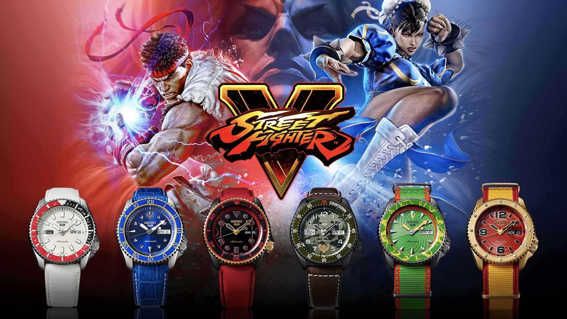 Seiko 5 Sports Versus Street Fighter V… Ready, fight!