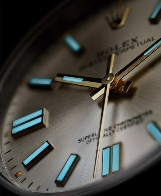 Close up Rolex oyster perpetual