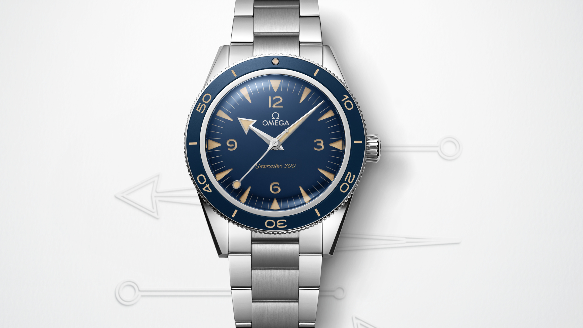 The Omega Seamaster 300, Now With A Sandwiched Dial And Lollipop Hand For Desert