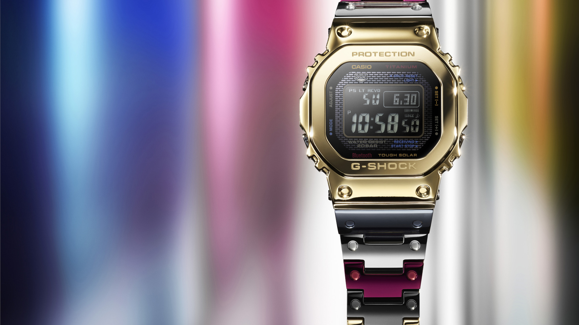 The Casio G-Shock GMW-B5000TR Offers Mirror-Polished Titanium In Rainbow Colours Need We Say More?
