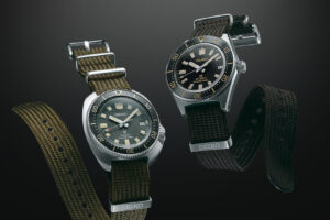 Modern Reinterpretation of Seiko's 1965 and 1970 dive watches now with traditional Seichu braid straps