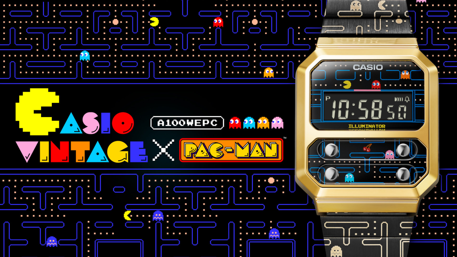 The New Casio A100WEPC PAC-MAN Is 'PAC'-ED to The Brim with Retro Nostalgia
